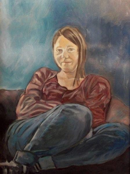 Malerei, Portrait, Frau