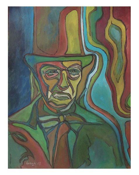 Lord, Neueart, Ölmalerei, Mann, Malerei