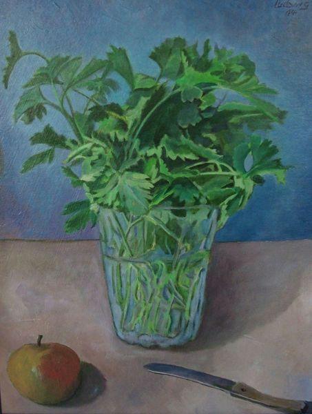 Malerei, Grün, Petersilie