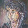 Malerei, Frau, Acrylmalerei