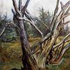 Baum, Tod, Malerei, Landschaft