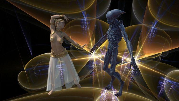 Alien, Universum, Venus, Abstrakt, Frau, Digitale kunst