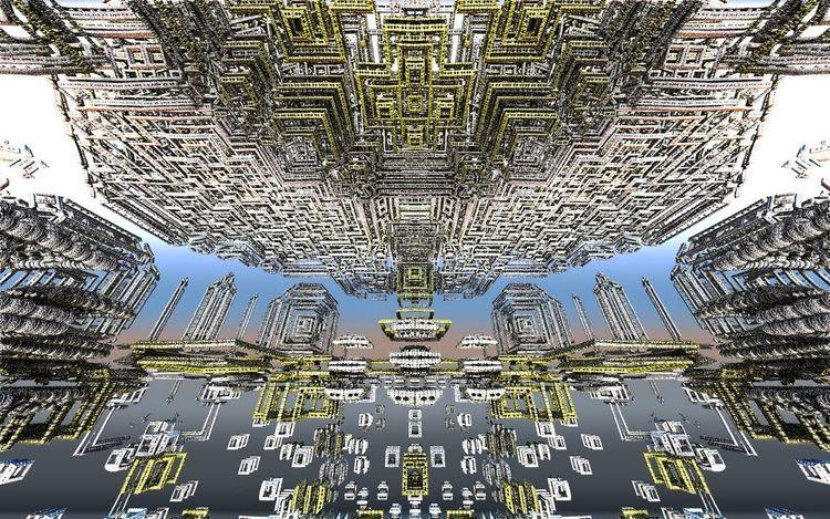 Abstrakt, Stadt, Universum, Digitale kunst