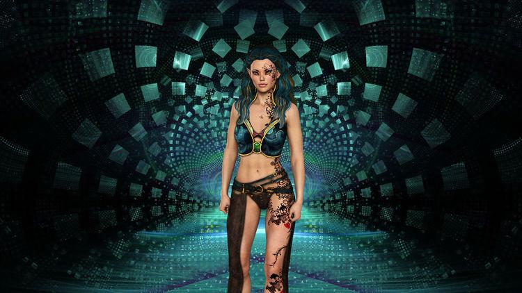 Venus, Frau, Universum, Abstrakt, Digitale kunst, Zauber