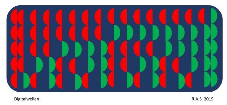 Repetition, Evolution, Dualzahlen, Digitale kunst
