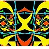 Symmetrie, Gelb orange, Konkrete kunst, Digitale kunst