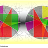 Dreiecke, Konkrete kunst, Thaleskreis, Digitale kunst