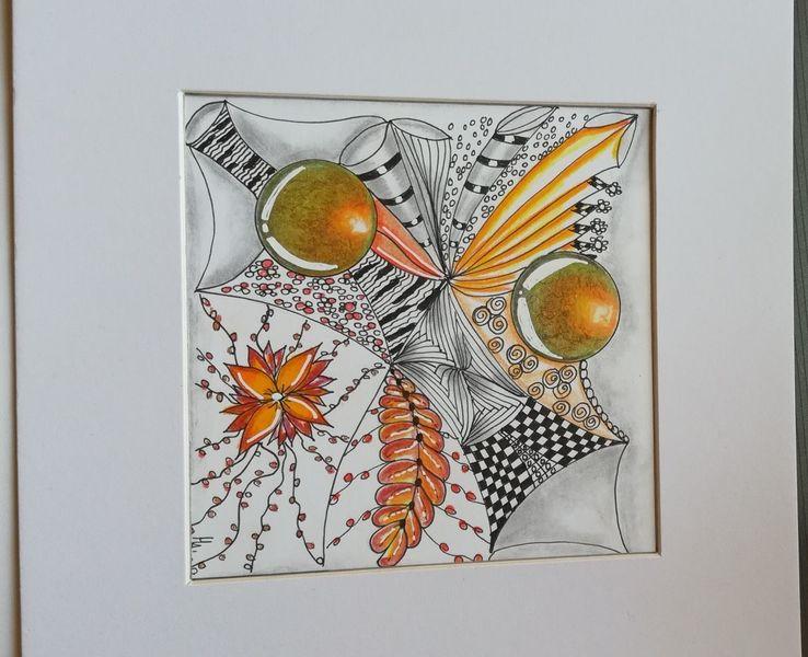 Zentanglen, Gekritzel, Fantasie, Buntstifte, Aquarellmalerei, Zeichnung