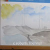Tuschmalerei, Landschaft, Aquarellmalerei, Aquarell