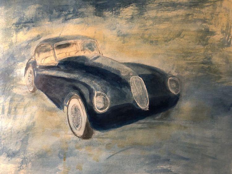 Jaguar, Gouachemalerei, 50 x40, Malerei