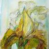 Blüte, Abstrakt, 30 x40, Malerei