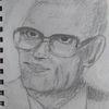 Bleistiftzeichnung, Mann, Vater, Zeichnungen