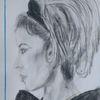 Frau, Bleistiftzeichnung, Schön, Zeichnungen