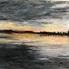 Aquarellmalerei, Staffelsee 2, Aquarell,