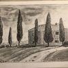 Toskana, Bleistiftzeichnung, Urlaub, Zeichnungen