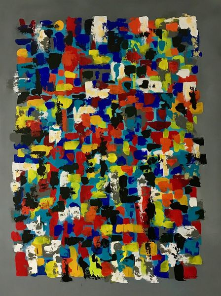 Lebensfreude, Abstrakt, Acrylmalerei, Malerei