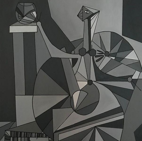 Abstrakt, Figur, Acrylmalerei, Malerei