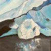 Gletscher, Eisberg, Acrylmalerei, Malerei