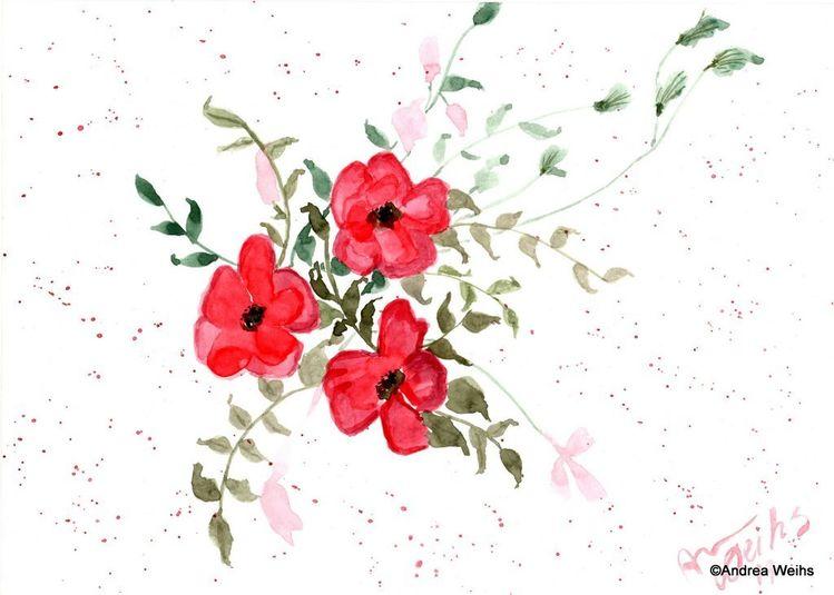 Aquarellmalerei, Malerei, Blumen, Aquarell