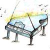 Hoffnung, Malerei klavier musik, Spirituell, Aquarell