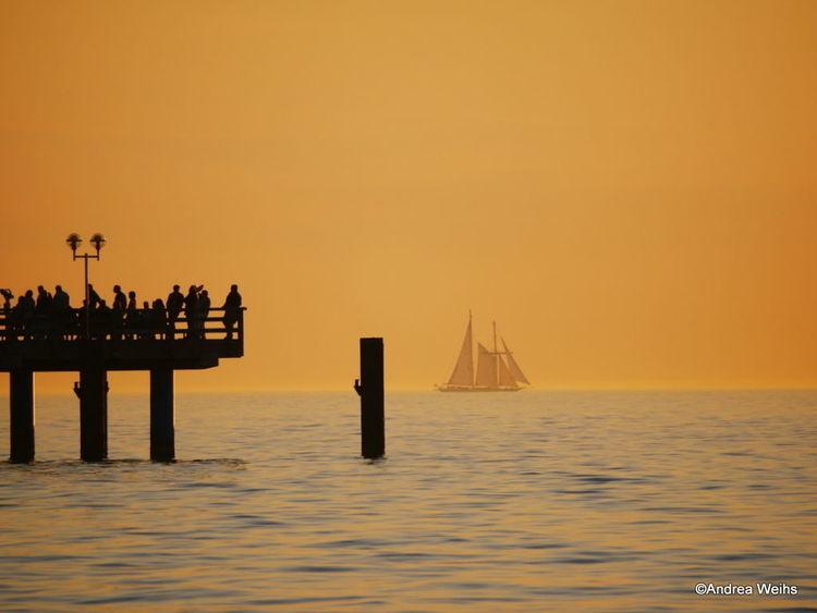 Fotografie, Welle, Meer, Abendlicht, Segelboot