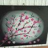 Gedanken, Acrylmalerei, Kirschblüte, Stillleben