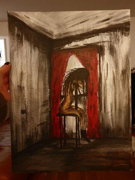 Akt, Frau, Acrylmalerei, Menschen, Malerei