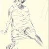 Martha krug, Zeichnung, Frauenstudie, Zeichnungen