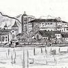 Reiseskizze, Insel, Bleistiftzeichnung, Zeichnungen