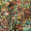 Pinsel, Abstrakt, Rakeltechnik, Acrylmalerei