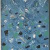 Schwarz weiß, Gemälde, Blau schwarz weiss, Malerei abstrakt