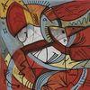 Tiere abstrakt, Abstrakt malerei, Abstraktes gemälde, Abstrakt comic