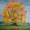 Buntes laub, Herbst, Naturliebendes paar, Malerei