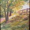 Frühling, Baum, Blühende wiese, Licht