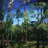 Frühling, Spaziergang mit hund, Wald, Malerei