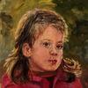 In gedanken 2, Mädchen, Malerei, Nachdenklich