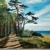 Wald, Sonne, Ostsee, Malerei