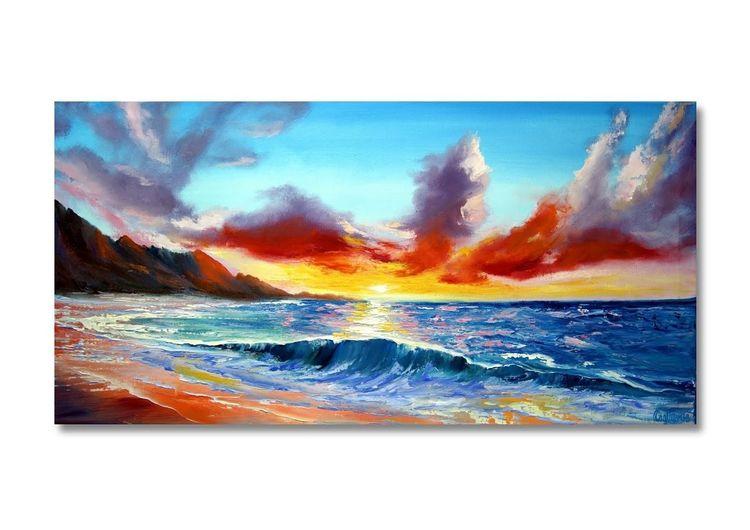Meer, Gemälde, Natur, Italien, Acrylmalerei, Ölmalerei