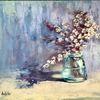 Stillleben, Pastellmalerei, Blumen, Malerei
