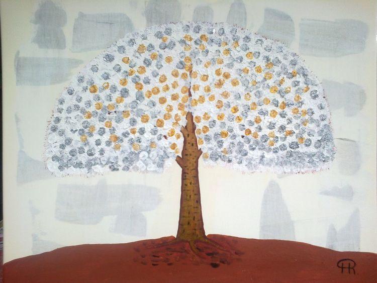 Baum, Abstrakte malerei, Fantasie, Malerei, Abstrakt