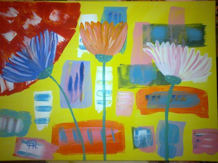 Fantasie, Blumen, Abstrakte malerei, Malerei, Abstrakt