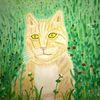 Katze, Abstrakte malerei, Landschaft, Malerei
