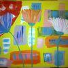 Abstrakte malerei, Blumen, Fantasie, Malerei