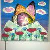 Blumen, Abstrakte malerei, Schmetterling, Tiere