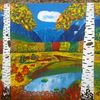 Moor, Berge, Abstrakte malerei, Wald