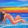 Landschaft, Abstrakte malerei, Frau, Malerei
