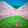 Kirschblüte, Ostern, Abstrakte malerei, Tiere