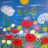 Blumen, Sommer, Mohn, Landschaft