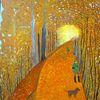 Wald, Landschaft, Menschen, Abstrakte malerei