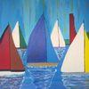 Landschaft, Segelboot, Abstrakte malerei, Sport